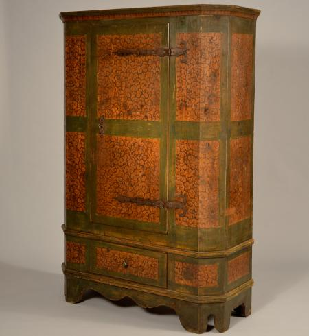 Painted Cupboard with One Drawer - A15398