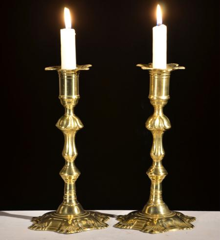 Superb Queen Anne Candlesticks - R15542