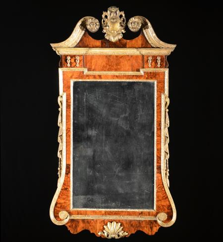 Superb George II Walnut and Parcel Gilt Mirror - R16170