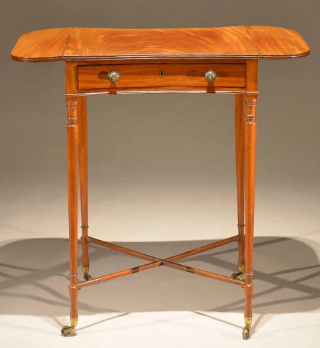Sheraton Drop Leaf Sewing Table - R17112