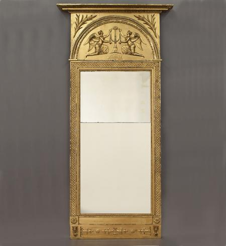 Large Swedish Neoclassical Gilded Pier Mirror. - RD16223