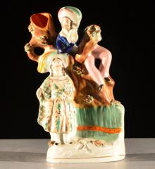 Spill Vase with Boy and Girl - A15480