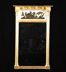 Gilded Mirror with Eglomise Panel - A15894
