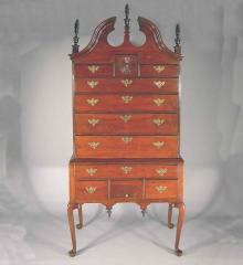 Queen Anne Bonnet Top Highboy - DA12047