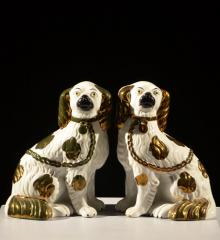 Pair of Luster Dogs - R15282