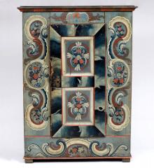 Wonderful Swiss Provincial Painted Armoire - R15644