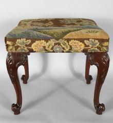 Superb Chippendale Period Mahogany Footstool - R16008