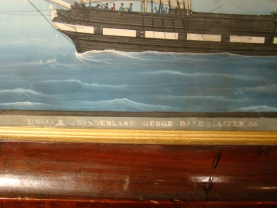 Detail of Antique British Ship Painting