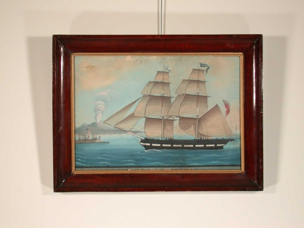 J4613 British ship painting